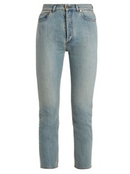 Valentino High Rise Cropped Jeans Light Blue