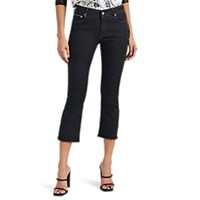Care Label Cigar Bell Crop Jeans Black