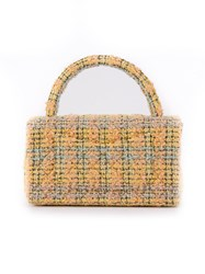 Chanel Vintage Set Of Two Tweed Totes Yellow And Orange