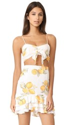 For Love And Lemons Limonada Crop Top Lemon
