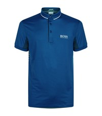 Hugo Boss Green Paddy Stripe Polo Shirt Male Blue