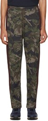 Valentino Green Tropical Camo Lounge Pants