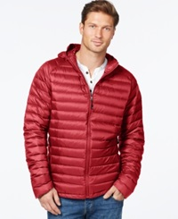 Weatherproof Packable Down Jacket Bright Red