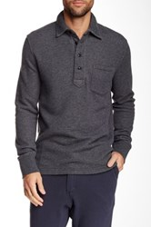 Relwen Thermal Long Sleeve Polo Blue