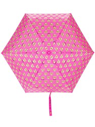 Moschino Teddy Bear Print Umbrella Pink