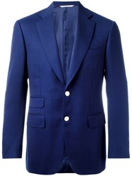 Canali Single Breasted Blazer Blue