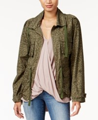 Bar Iii Leopard Print Anorak Field Jacket Only At Macy's