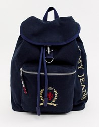 Tommy Jeans Capsule Crest Logo Backpack Dark Sapphire Blue