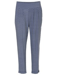 Betty And Co. Graphic Print Trousers Dark Blue