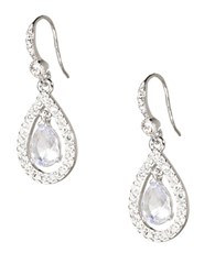 Carolee Make My Day Or Night Teardrop Earrings Crystal
