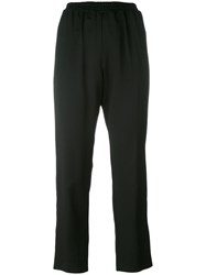 Gianluca Capannolo Drop Crotch Cropped Trousers Black