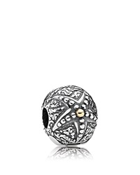 Pandora Design Pandora Clip Sterling Silver And 14K Gold Starfish Moments Collection Gold Silver