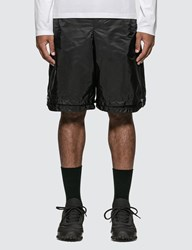 Prada Side Zip Detail Nylon Shorts Black