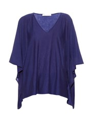 Denis Colomb Djellaba Hand Woven Cashmere Poncho Navy