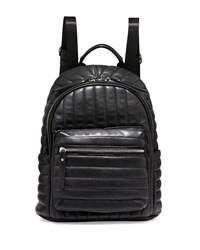 Neiman Marcus Linear Quilted Backpack Black