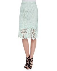 Andrew Marc New York Armor Lace Pencil Skirt