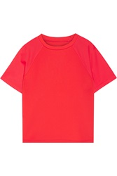 Cynthia Rowley Mesh Paneled Stretch Scuba Jersey T Shirt
