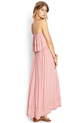 Forever 21 Flounce Tube Maxi Dress Mauve