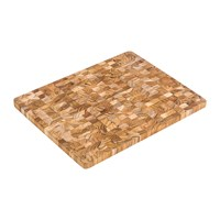 Teakhaus End Grain Chopping Board Brown