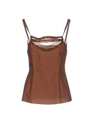 Philosophy Di Alberta Ferretti Topwear Tops Women Brown