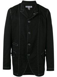 Comme Des Garcons Shirt Contrast Trimming Blazer Men Cotton L Black