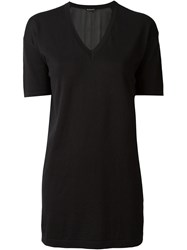 Ann Demeulemeester V Neck Knit Top Black
