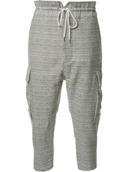 Vivienne Westwood Cropped Cargo Trousers Grey