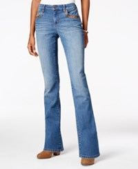 Styleandco. Style Co. Faux Leather Trim Degraw Wash Bootcut Jeans Only At Macy's