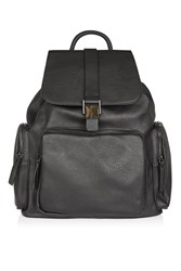 Topshop Pu Sporty Backpack Black