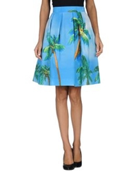 P.A.R.O.S.H. Knee Length Skirts Azure