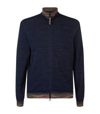 Missoni Jersey Zip Jacket Male Navy
