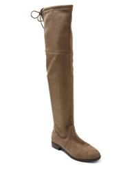 Kensie Thom Microsuede Over The Knee Boots Taupe