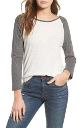 Madewell Women's Baseball Tee Heather Anchor