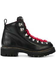Dsquared2 Contrast Hiking Boots Black