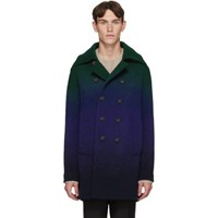 Missoni Blue And Green Degrade Peacoat