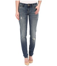 Kut From The Kloth Diana Skinny Jeans In Zest W Dark Stone Base Wash Zest Dark Stone Base Wash Women's Jeans Blue