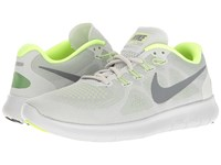 Nike Free Rn 2 Wolf Grey Cool Grey Pure Platinum Volt Women's Running Shoes White