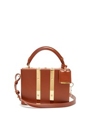 Sophie Hulme Mini Albany Leather Box Bag Tan
