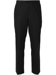 Joseph Cropped Front Pleat Trousers Black