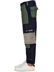 Diadora Lc23 Patchwork Sweatpants Navy Green