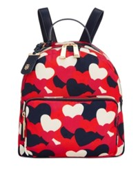 Tommy Hilfiger Small Julia Dome Backpack Bright Rose Multi