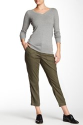 Cj By Cookie Johnson Linen Blend Relaxed Pant Green