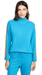 Chinti And Parker Ripple Sweater Turquoise Multi