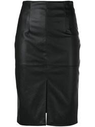 Twin Set Front Slit Pencil Skirt Black