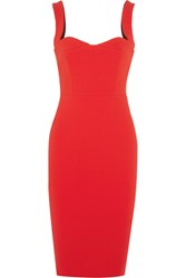 Victoria Beckham Crepe Dress Red