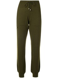 Barrie Knitted Track Pants Green