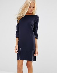 Soaked In Luxury Shift Dress With Side Zips 25D Royal Blue