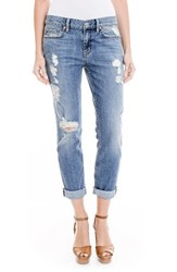 Level 99 Women's Sienna Stretch Distressed Ankle Cuff Jeans Crosby Beach