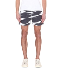 Saturdays Surf Nyc Safari Print Shorts White