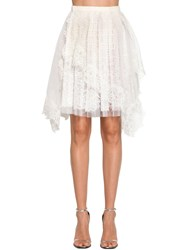 Ermanno Scervino Multilayer Wrap Lace Skirt White